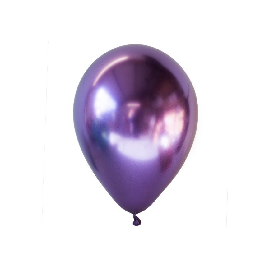 Ballon Latex Chromé Argent