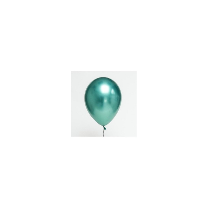 Green Chrome Latex Mini Balloon 18cm