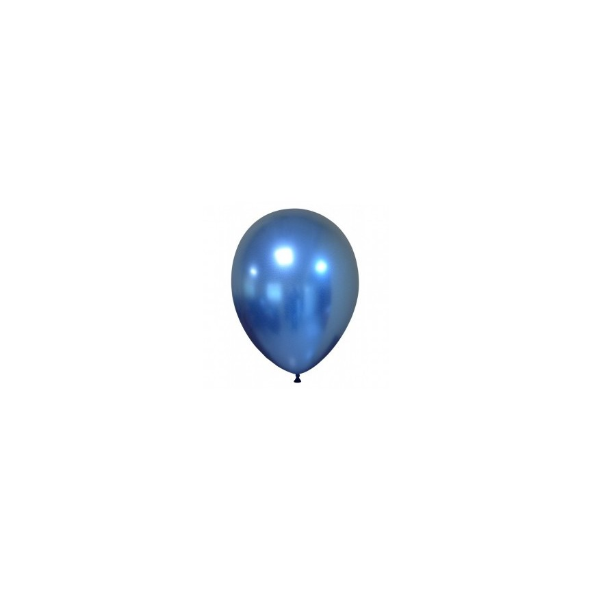 Blue Chrome Latex Mini Balloon 18cm