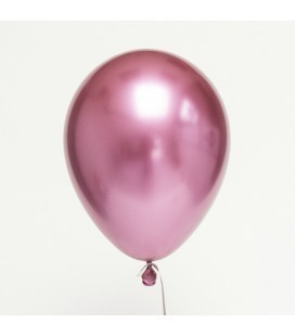 Pink Chrome Latex Mini Balloon 18cm