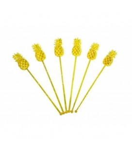 12 Pineapple Cocktail Stirrers