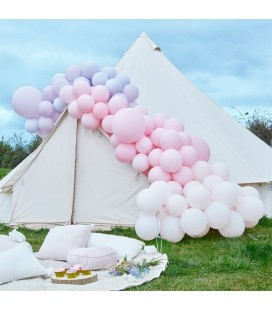Luxe Pastel Pink & Purple Balloon Arch Kit