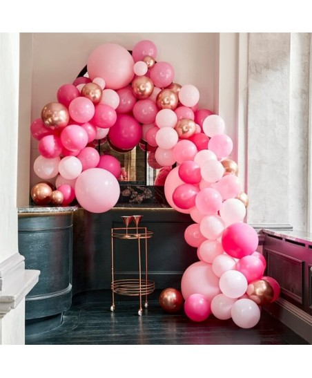 Luxe Pink & Rose Gold Balloon Arch Kit