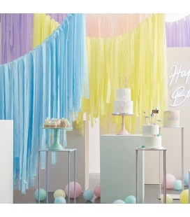 Pastel Luxe Party Streamers Backdrop