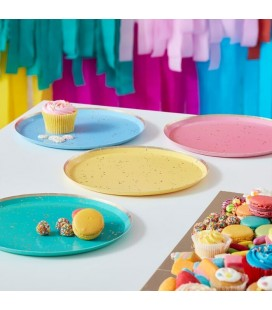 Gold Speckled Rainbow Plates