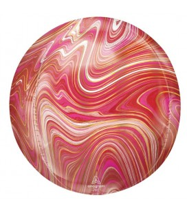 Red/Pink Sphere Orbz Foil Balloon
