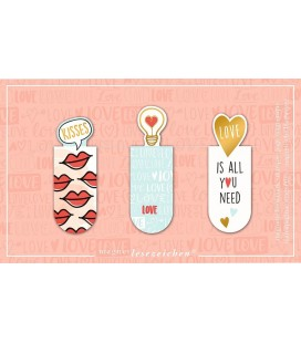 Magnetic Bookmarks Love