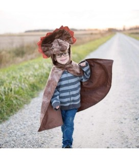 Triceratops Brown Cape 4-5 years