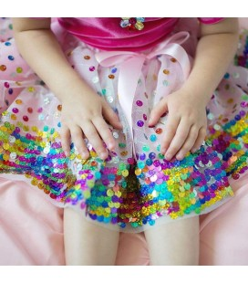 Pink Party Fun Sequin Skirt  4-6 years