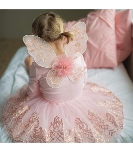 Rose Gold Tutu with Wings  4-7 years