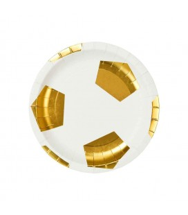 12 Football Party Champions Plates