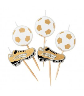 5 Football Party Champions Candles
