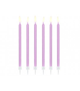 12 Lila Candles