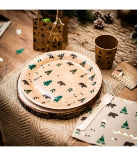 Indian Forest Plates