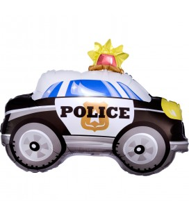 On the Road Police Car shaped Foil Balloon
