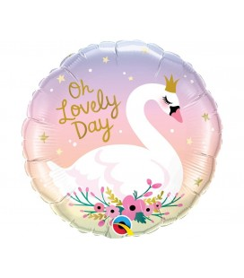 Foil Oh Lovely Day Swan Balloon