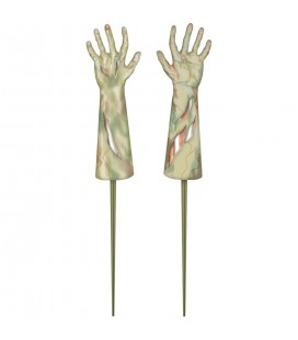 2 Lawn Signs Zombie Hands
