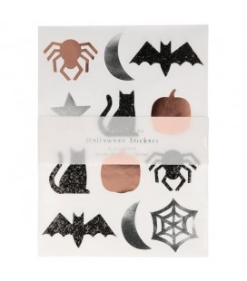 Set of 10 Sheets Halloween Stickers