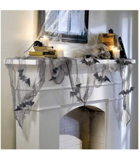Decorative fabric with bats