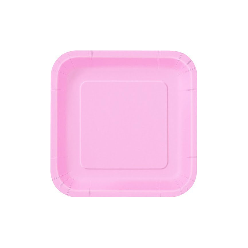 14 Pink Dinner Plates