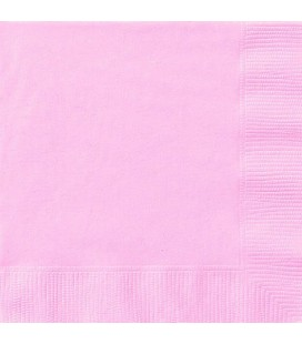 20 Pink Lunch Napkins