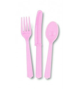 18 Pink Cutlery