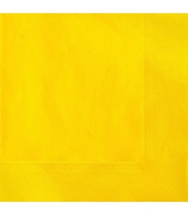 20 Yellow Lunch Napkins