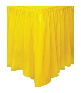 Jupe de Table Jaune