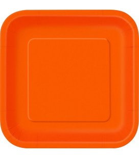 14 Grandes Assiettes Orange
