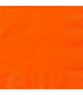 20 Orange Lunch Napkins
