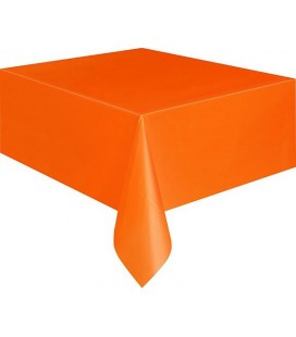 Orange Tischdecke