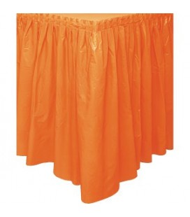 Jupe de Table Orange