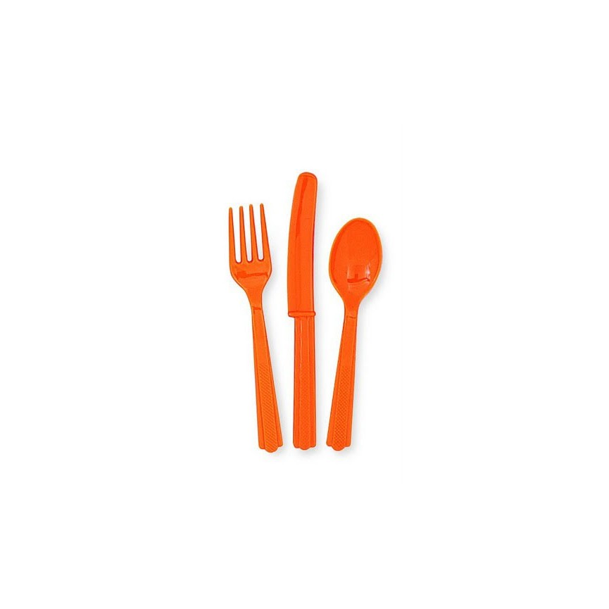 18 Orange Cutlery