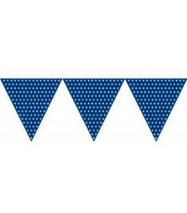 Royal Blue Polka Dot Flag Banner