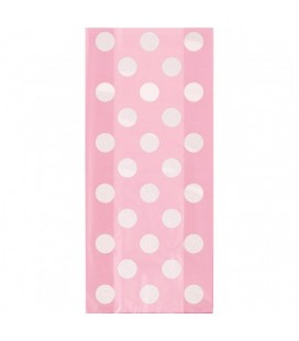 20 Pink Polka Dots Cello Bags