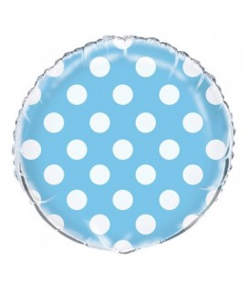 Baby Blue Polka Dots Mylar Balloon