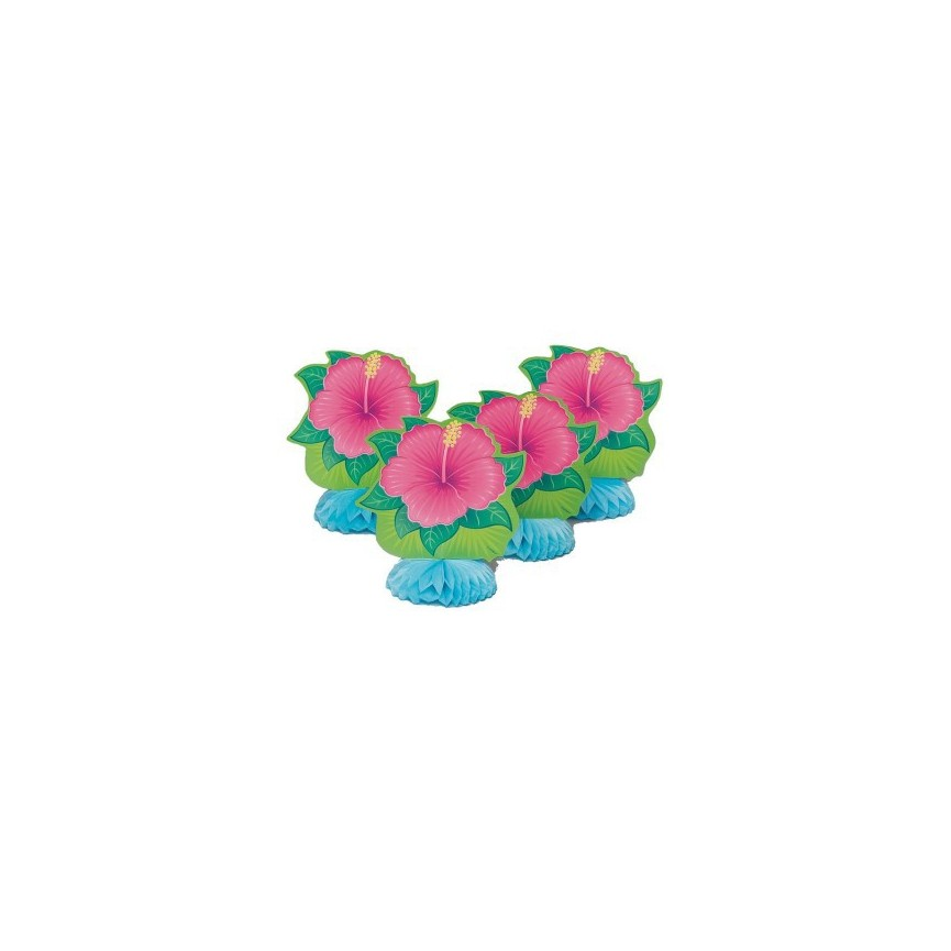 4 Tropical Bloom Decorations