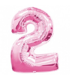 Pink Mylar Balloon Number 2