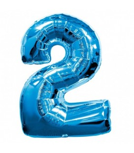Blue Mylar Ballon Number 2