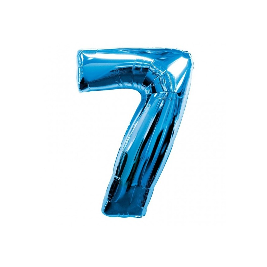 Blue Mylar Ballon Number 7