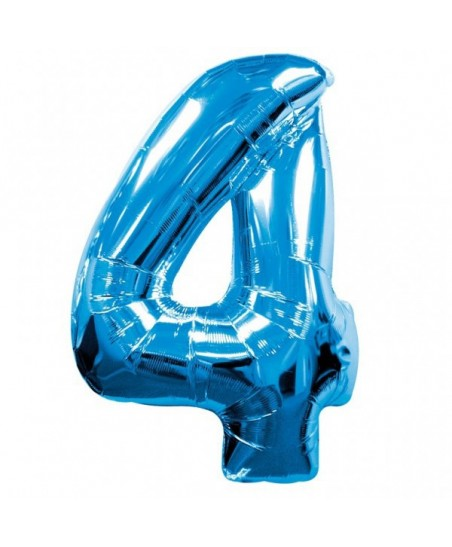 Blue Mylar Balloon Number 4