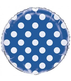 Royal Blue Polka Dots Mylar Balloon