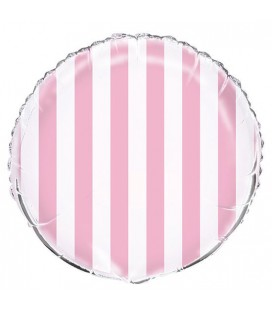 Pink Stripes Mylar Balloon