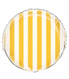 Yellow Stripes Mylar Balloon