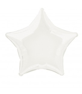 White Star Mylar Balloon