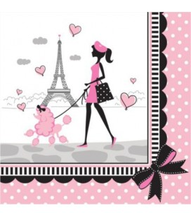 Serviettes Paris Chic