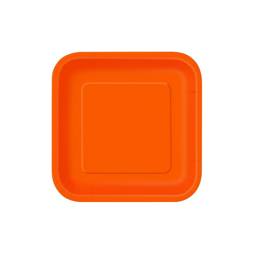 16 Petites Assiettes Orange