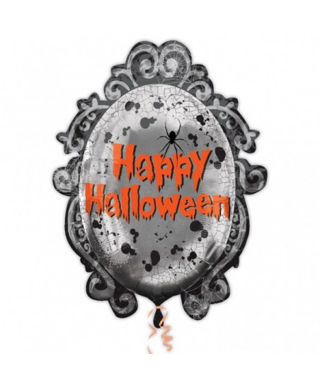 Happy Halloween Spooky Mirror Frame Foil Balloon