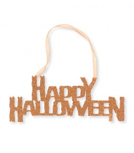 Happy Halloween Glitter Sign