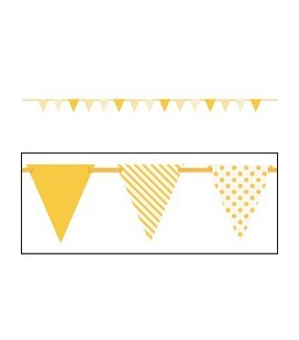 Yellow Dots & Stripe Flag Banner